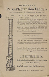 Advert For Heathman's Window Fire Escapes reverse